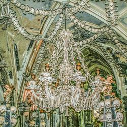 Knekelkerk in KutnaHora, Tsjechische Republiek