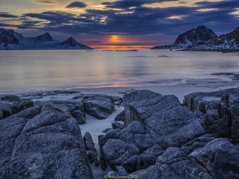 Haukland beach, Lofoten, Norway