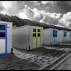 Strandhuisjes bij Paal 17 Texel
