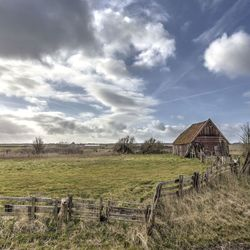 Old barn and fences