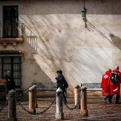 Rode regenjassen