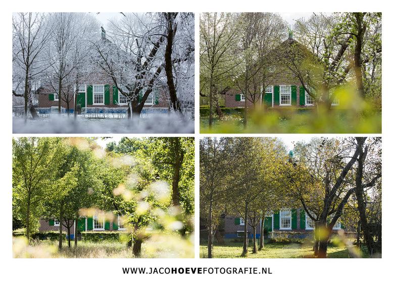 4-seizoenen---Jaco-Hoeve-Fotografie - Ze zijn af! Een Rouveense boerderij in alle vier de seizoenen.<br /> Van een prachtig witte winterwereld naar h