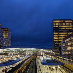 Utrecht - Centraal Station vanaf Moreelsebrug - 01