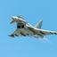Eurofighter Thypoon in de blauwe lucht