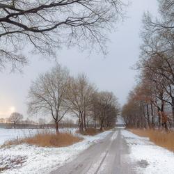 Winter in Vries - weg