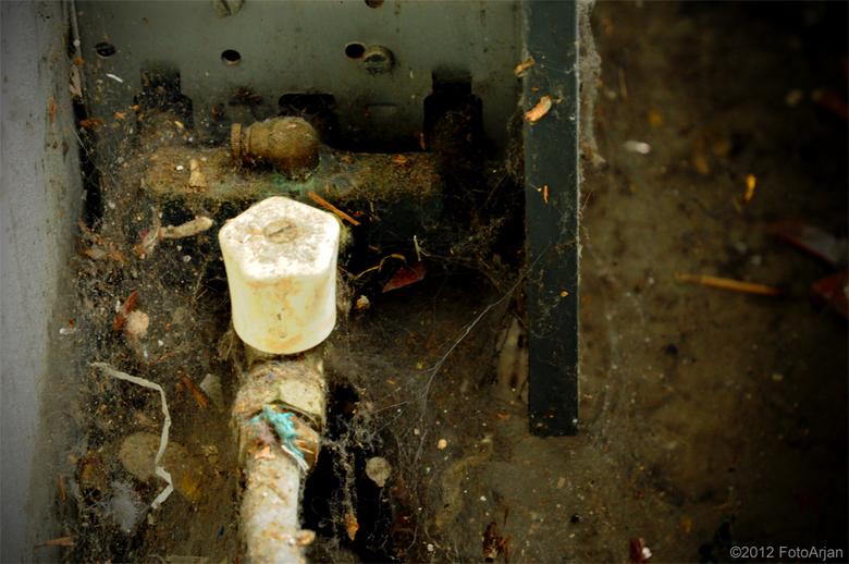 Radiatorkraan - In een oud pand.