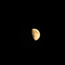 Maan bij heldere nacht
