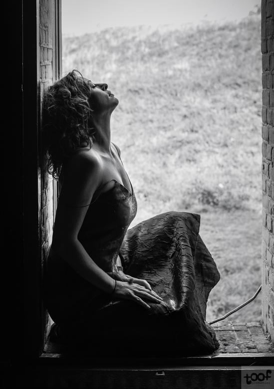 In a window... -