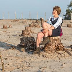 conversatie op zandverstuiving