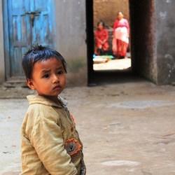 Meisje in Bhaktapur
