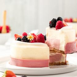 Zomers taartje met fruit