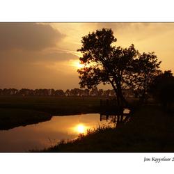 Polder sunset
