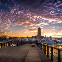 panorama stadsgezicht Deventer