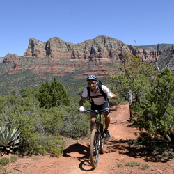 Mountain biker in Red Rock Mountains