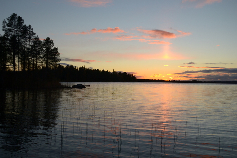 Lapland zonsondergang