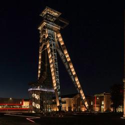 mijntoren bij avond