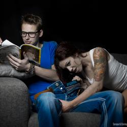 Intimate Shoot met Soraya & Danny, Zij heeft zin, Hij heeft het niet door. :P