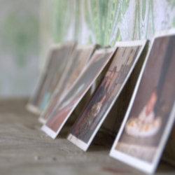 De foto's op de schouw