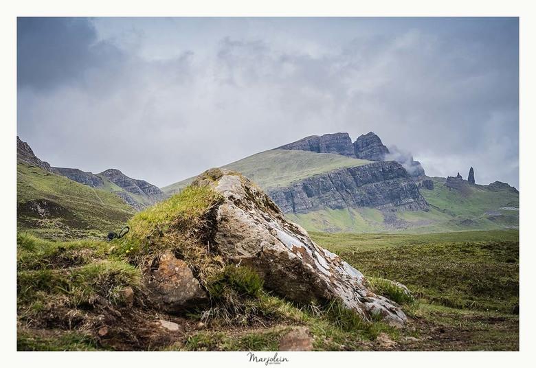 Old men of Storr - Ik heb genoten van het mooie fotogenieke Schotland. De old men of storr.<br /> Naar en op deze berg berg wordt graag gewandeld. Li