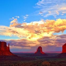 zonsondergang monument valley