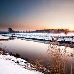 Winterlicht aan de Nete