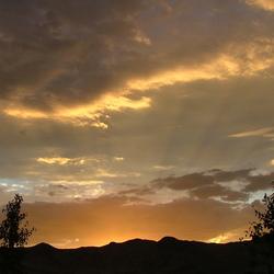 ondergaande zon in Nevada