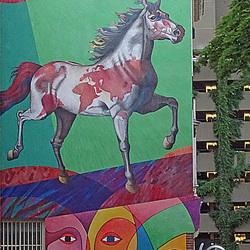 muur paard