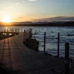 Sunset in Salou, Spain