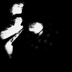 Portret in het donker