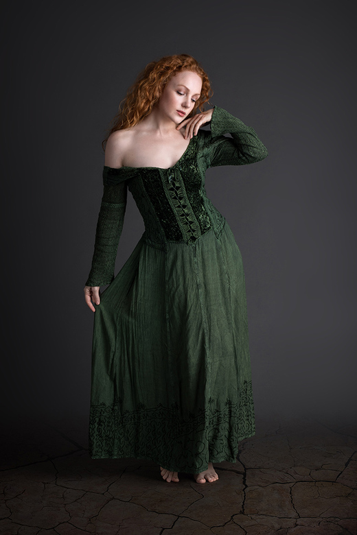 green frock - Ivory Flame