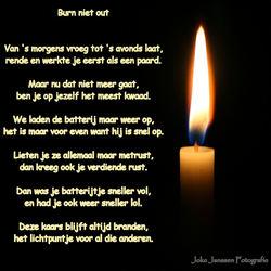 Burn niet out