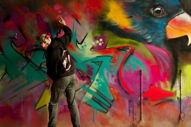 paintng clows - tijdens mn urbex avonturen gemaakt