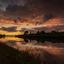 Sunset Everdingen uiterwaarden