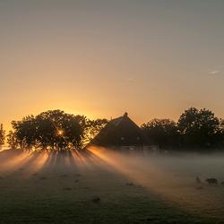 Mistige ochtend in september