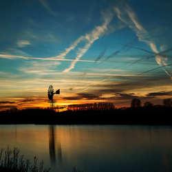 Ijssel mill sunset