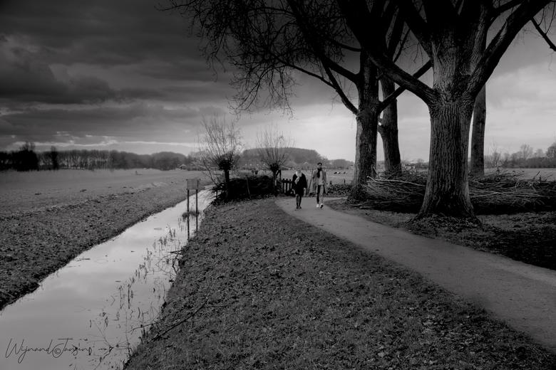 Walk route through nature -