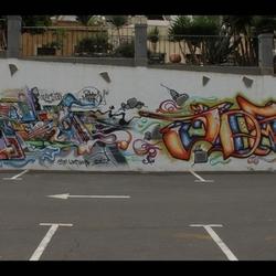 Kunst op parkeerplaats