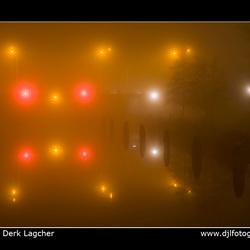 Europabrug in de mist