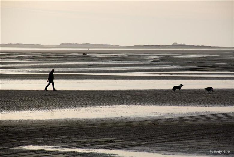 Strandwandeling - Als het lente is, dan is het weer tijd om erop uit te gaan. Tijdens een strandwandeling genieten van de mooie zacht roze gloed in de
