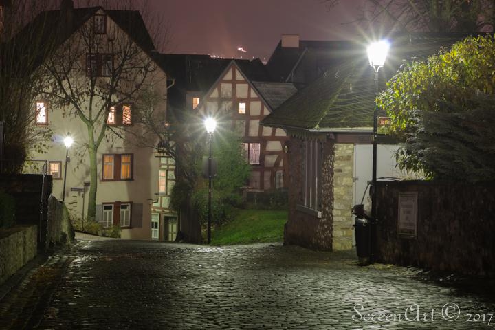 nachtelijke rust - Nachtelijke stilte in dorp