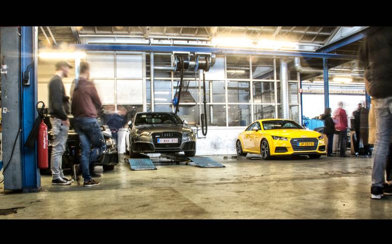 Yellow Audi -
