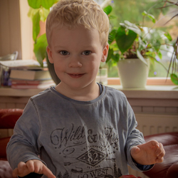 Mijn neefje in kleur