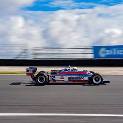 Oude F1 auto op Zandvoort.