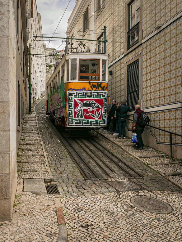 Tram - in Lissabon.