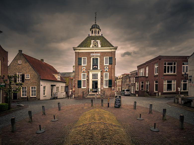Nieuwpoort-stadhuis/museum - Het stadhuis van Nieuwpoort fungeert ook als museum. Wat mij betreft het mooiste bouwwerk in dit vestingstadje.