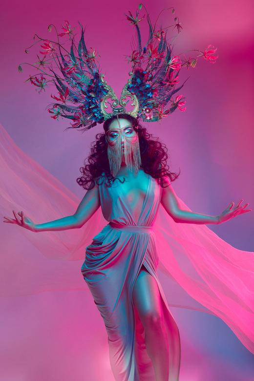 Goddess Surkura - Gorgeous goddess Surkura<br /> Make-up by Sylvia Mercera<br /> Headpiece + face chain by Divergent Flowers<br /> Hair, styling an