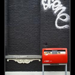 Gevel met brievenbus