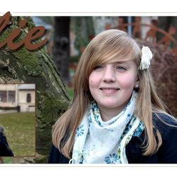 Communie kaartje Julie