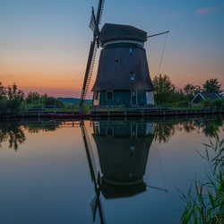Mill in evening light