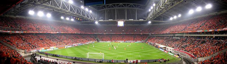 Arena panorama - Dit was tijdens de wedstrijd Ned - Mac. Helaas bleef het 0-0. Panorama bestaat uit 3 foto's en is gemaakt met het programma Auto